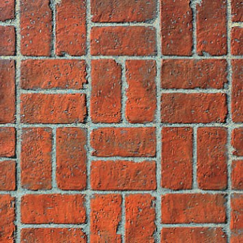 "Basket Weave Used Brick (16"" x 32"")"