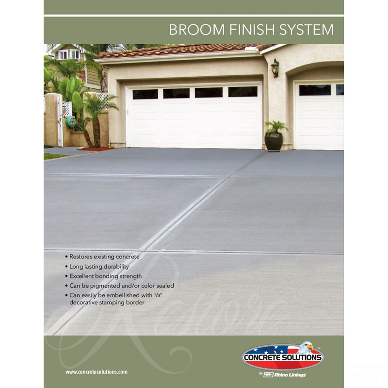 Broom Finish Flyer front