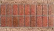 "Double Soldier Course Brick Border (16"" x 36"")"