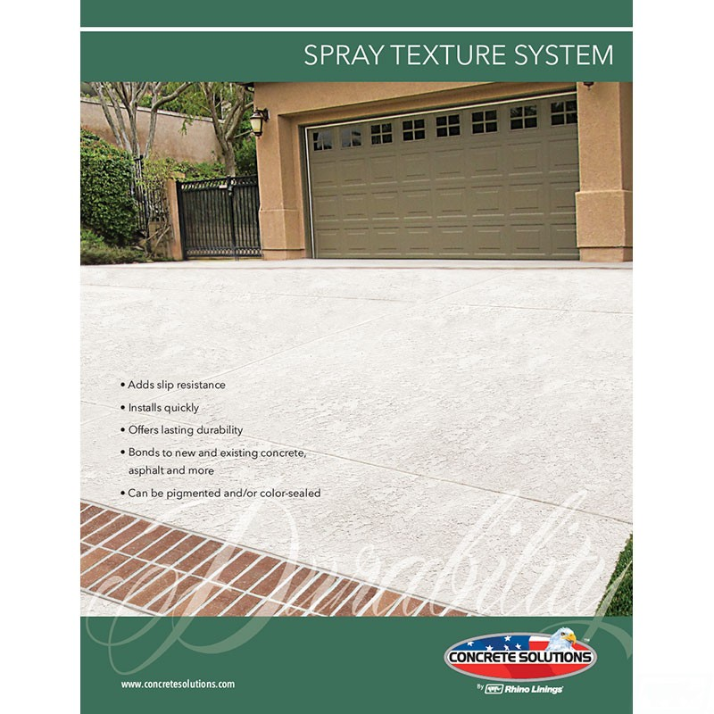 Spray Texture Flyer - Front
