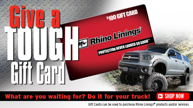 order Rhino liner gift card